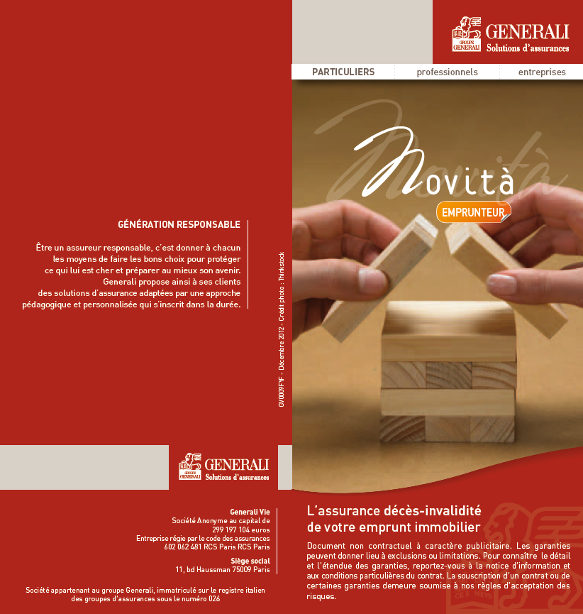 Assurance emprunt generali